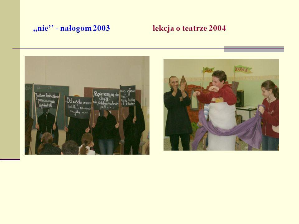 ,,nie - nałogom 2003lekcja o teatrze 2004