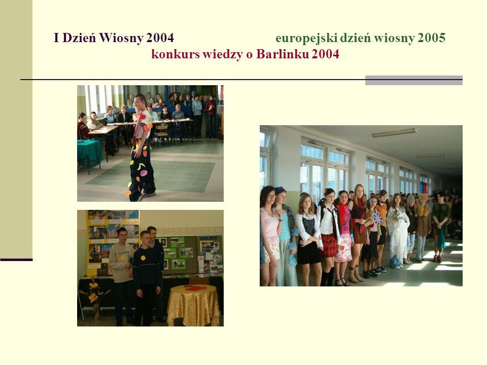 I Dzień Wiosny 2004 europejski dzień wiosny 2005 konkurs wiedzy o Barlinku 2004