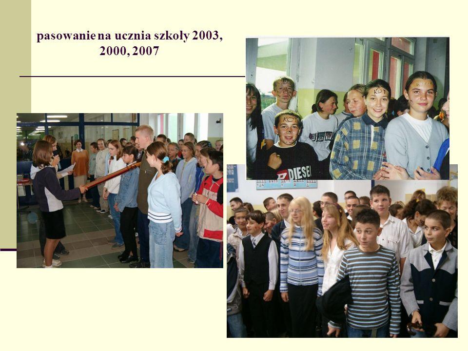 pasowanie na ucznia szkoły 2003, 2000, 2007