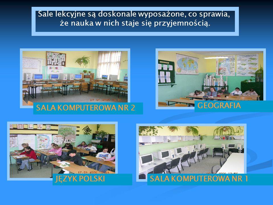 GEOGRAFIA JĘZYK POLSKI SALA KOMPUTEROWA NR 2 SALA KOMPUTEROWA NR 1 Sale lekcyjne są doskonale wyposażone, co sprawia, że nauka w nich staje się przyje