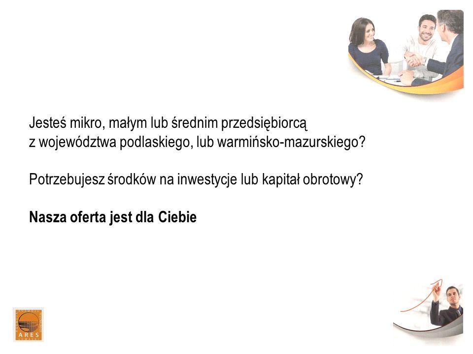 Jesteś mikro, małym lub średnim przedsiębiorcą z województwa podlaskiego, lub warmińsko-mazurskiego.