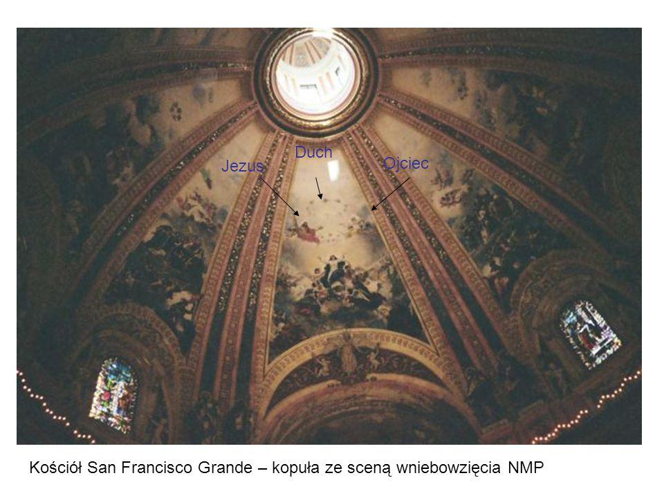 Jezus Ojciec Duch Kościół San Francisco Grande – kopuła ze sceną wniebowzięcia NMP
