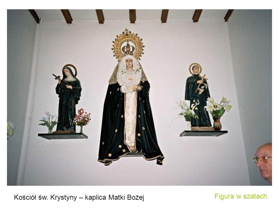 Kościół św. Krystyny – kaplica Matki Bożej Figura w szatach