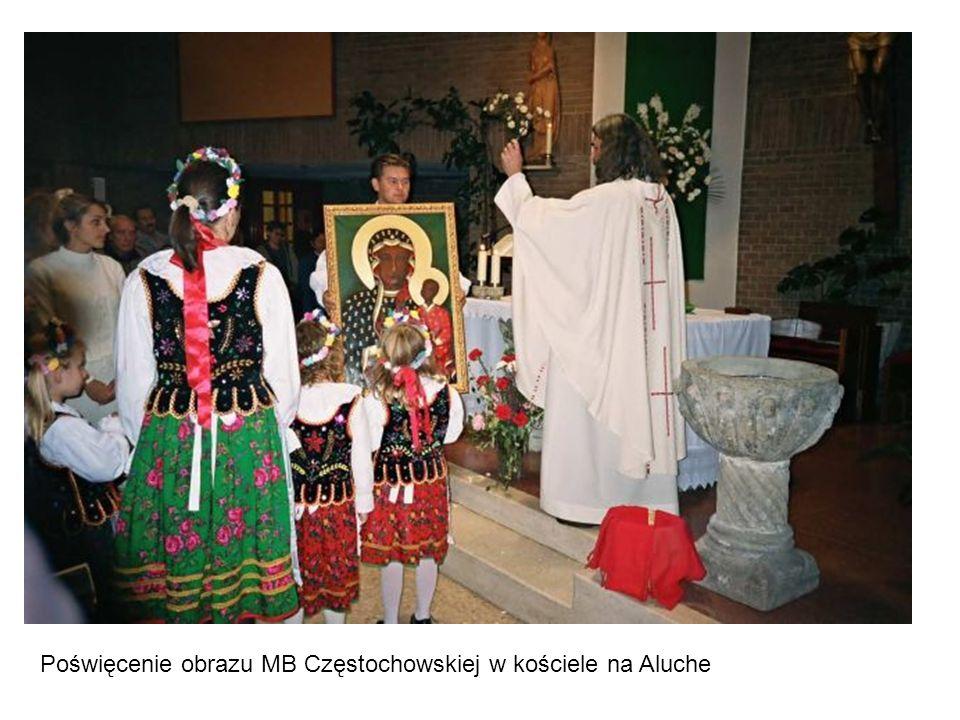 Poświęcenie obrazu MB Częstochowskiej w kościele na Aluche