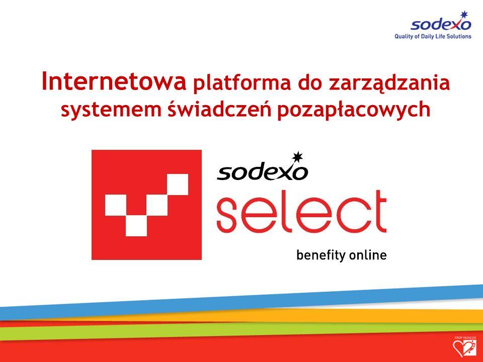 Internetowa platforma do zarządzania systemem świadczeń pozapłacowych