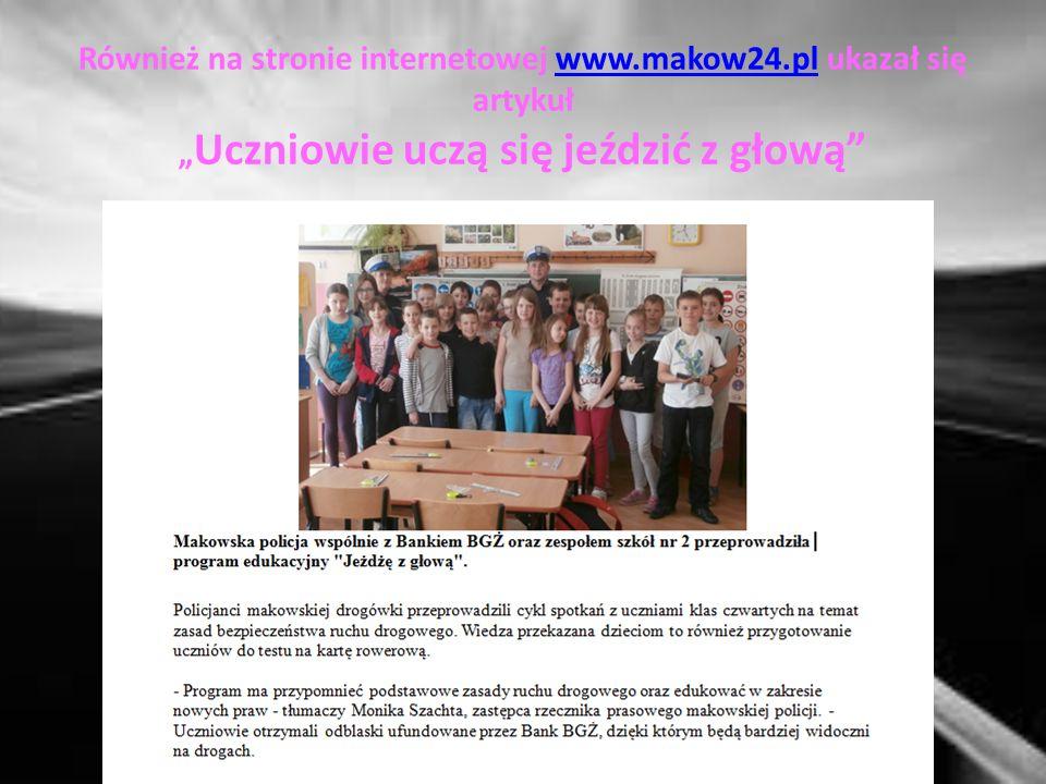 Informacja o programie pojawiła się na stronie Urzędu Miasta Makowa Mazowieckiego www.makowmazowiecki.pl