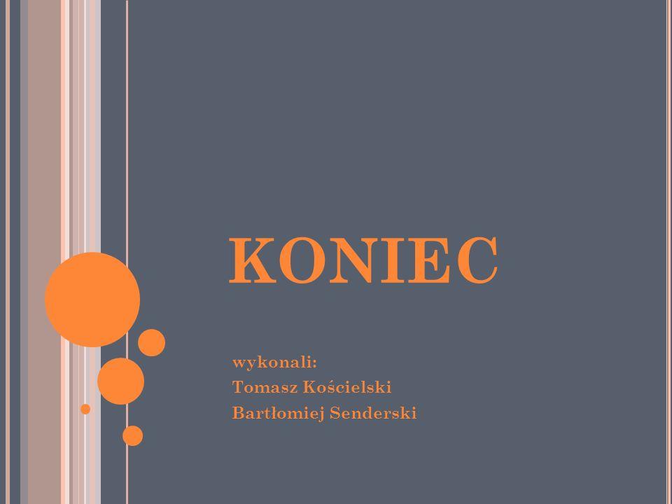 KONIEC wykonali: Tomasz Kościelski Bartłomiej Senderski
