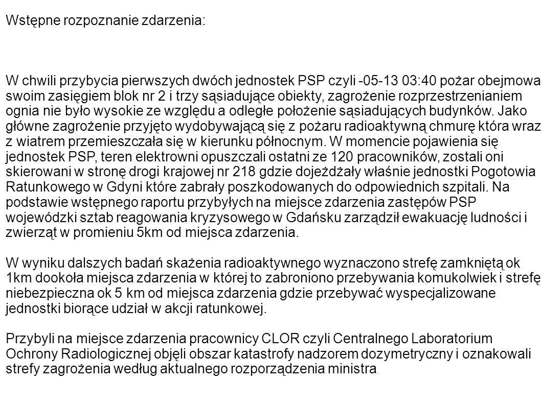 Akcja ewakuacyjna Akcje ewakuacyjną przeprowadzono pod dowództwem szefa wojewódzkiego sztabu reagowania kryzysowego w Gdańsku.