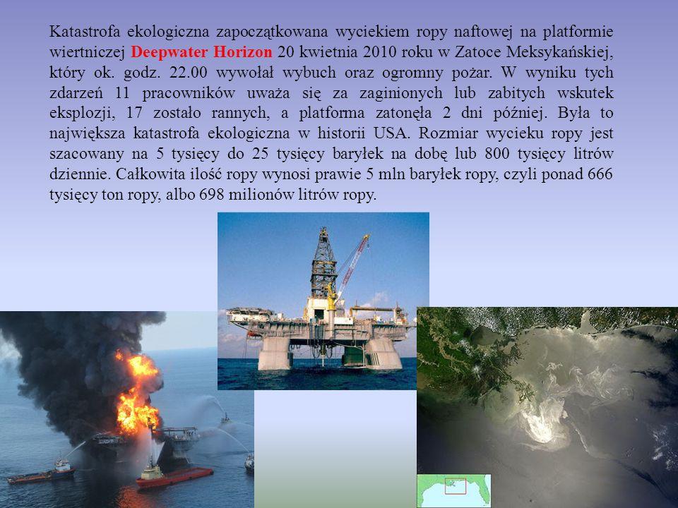 Katastrofa ekologiczna zapoczątkowana wyciekiem ropy naftowej na platformie wiertniczej Deepwater Horizon 20 kwietnia 2010 roku w Zatoce Meksykańskiej