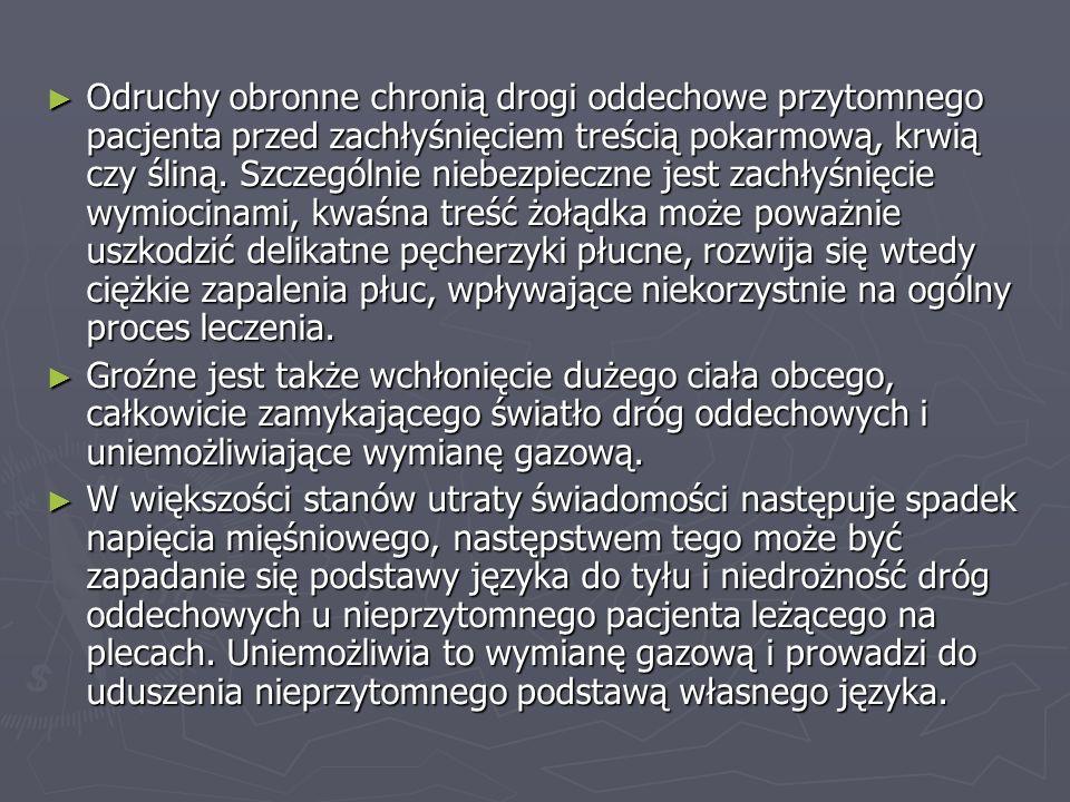 Ogólny sposób postępowania w nagłych przypadkach zagrażających zdrowiu określają trzy pierwsze litery alfabetu…ABC A – airway – udrożnienie dróg oddechowych B – breathing – sztuczna wentylacja C – circulation – pośredni masaż serca
