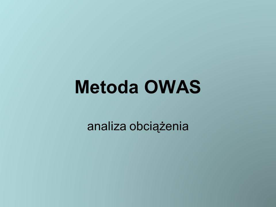 Metoda OWAS analiza obciążenia