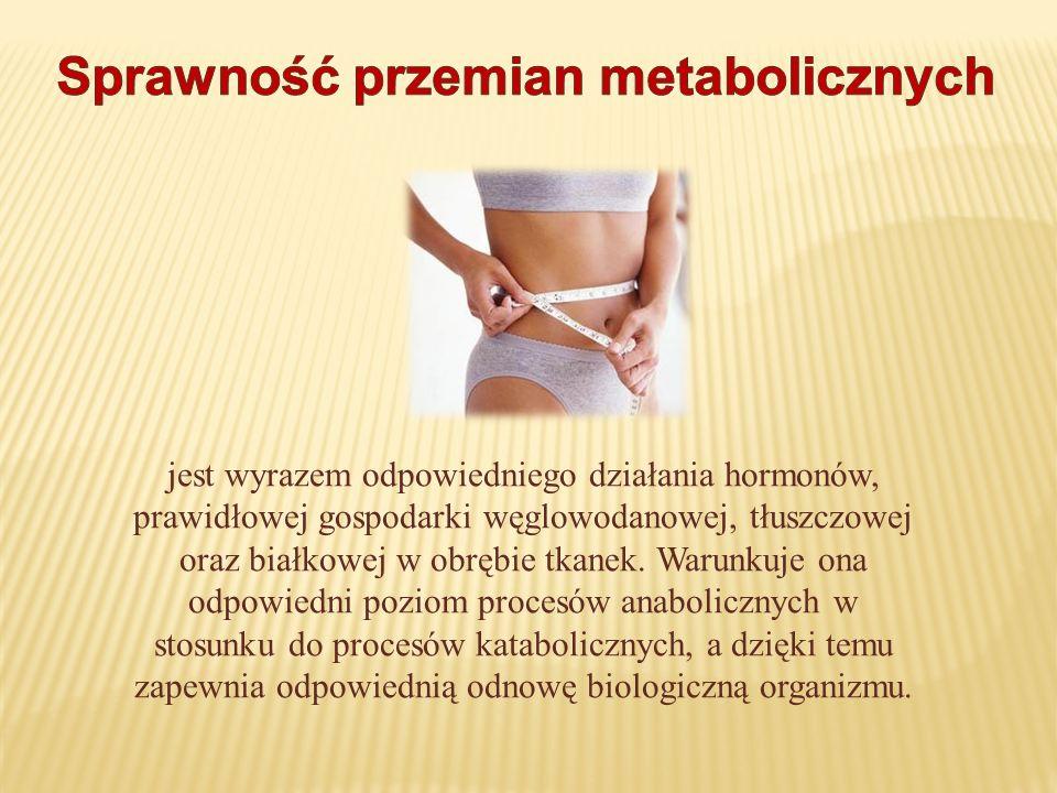jest wyrazem odpowiedniego działania hormonów, prawidłowej gospodarki węglowodanowej, tłuszczowej oraz białkowej w obrębie tkanek. Warunkuje ona odpow