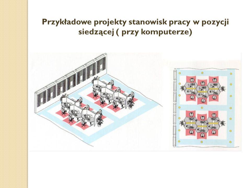 Przykładowe projekty stanowisk pracy w pozycji siedzącej ( przy komputerze)