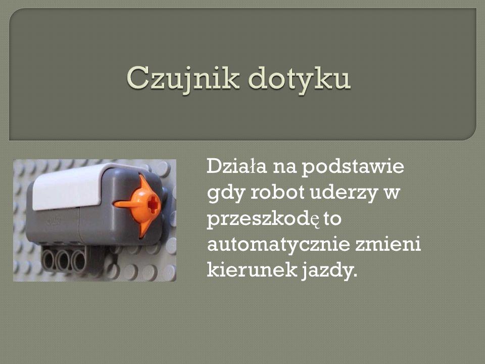 Dzia ł a na podstawie gdy robot uderzy w przeszkod ę to automatycznie zmieni kierunek jazdy.