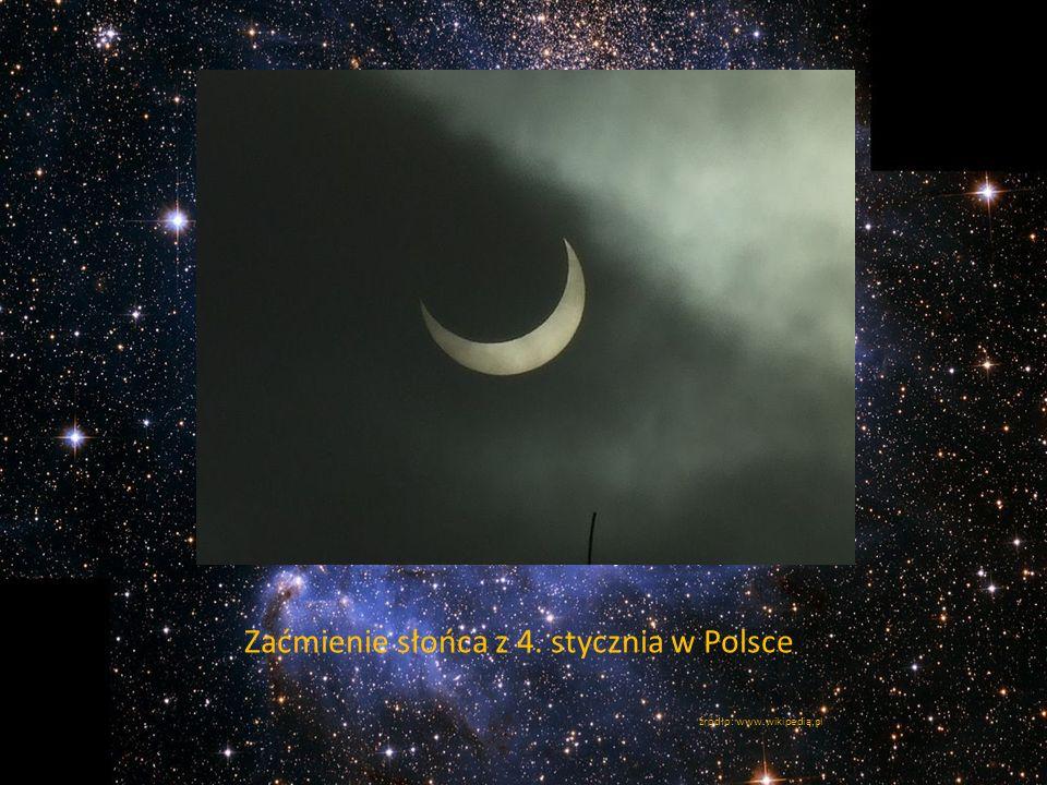 Zaćmienie słońca z 4. stycznia w Polsce źródło: www.wikipedia.pl