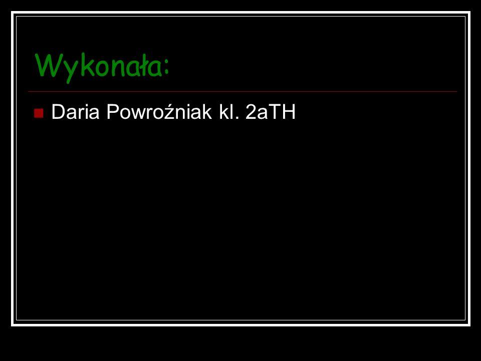 Wykonała: Daria Powroźniak kl. 2aTH