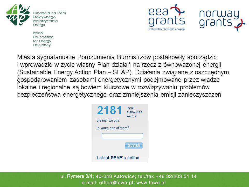 Miasta sygnatariusze Porozumienia Burmistrzów postanowiły sporządzić i wprowadzić w życie własny Plan działań na rzecz zrównoważonej energii (Sustaina