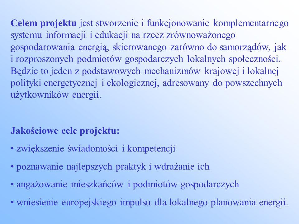 Grupy docelowe projektu decydenci i specjaliści samorządów terytorialnych małe i średnie przedsiębiorstwa stowarzyszenia, organizacje pozarządowe gospodarstwa domowe