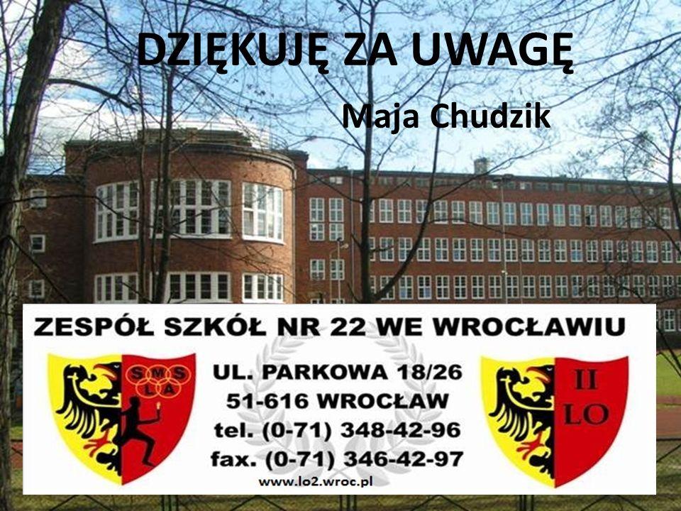 DZIĘKUJĘ ZA UWAGĘ Maja Chudzik l
