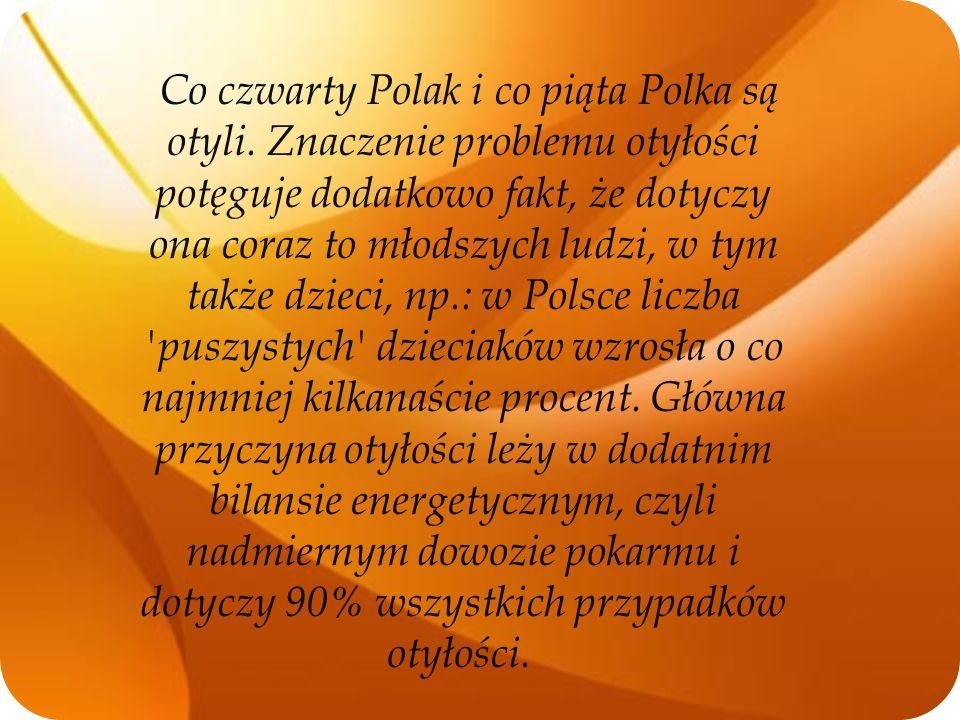 Co czwarty Polak i co piąta Polka są otyli. Znaczenie problemu otyłości potęguje dodatkowo fakt, że dotyczy ona coraz to młodszych ludzi, w tym także