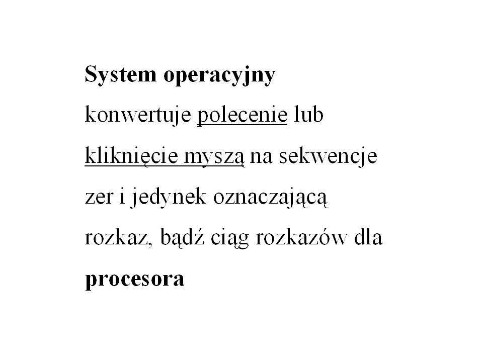 EWOLUCJA SYSTEMÓW OPERACYJNYCH -przetwarzanie szeregowe -systemy wsadowe -systemy wielozadaniowe (wieloprogramowe) -systemy podziału czasu (rozszerzenie wielozadaniowości) -systemy obsługujące wiele procesorów / systemy rozproszone -systemy czasu rzeczywistego
