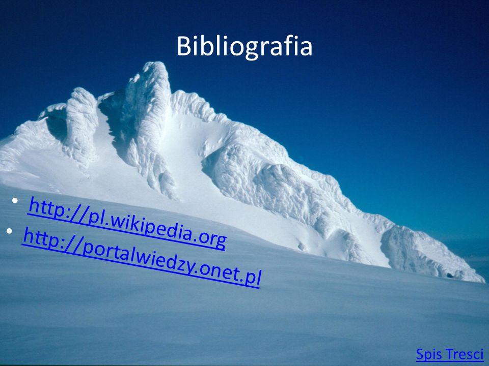 Bibliografia http://pl.wikipedia.org http://portalwiedzy.onet.pl Spis Tresci