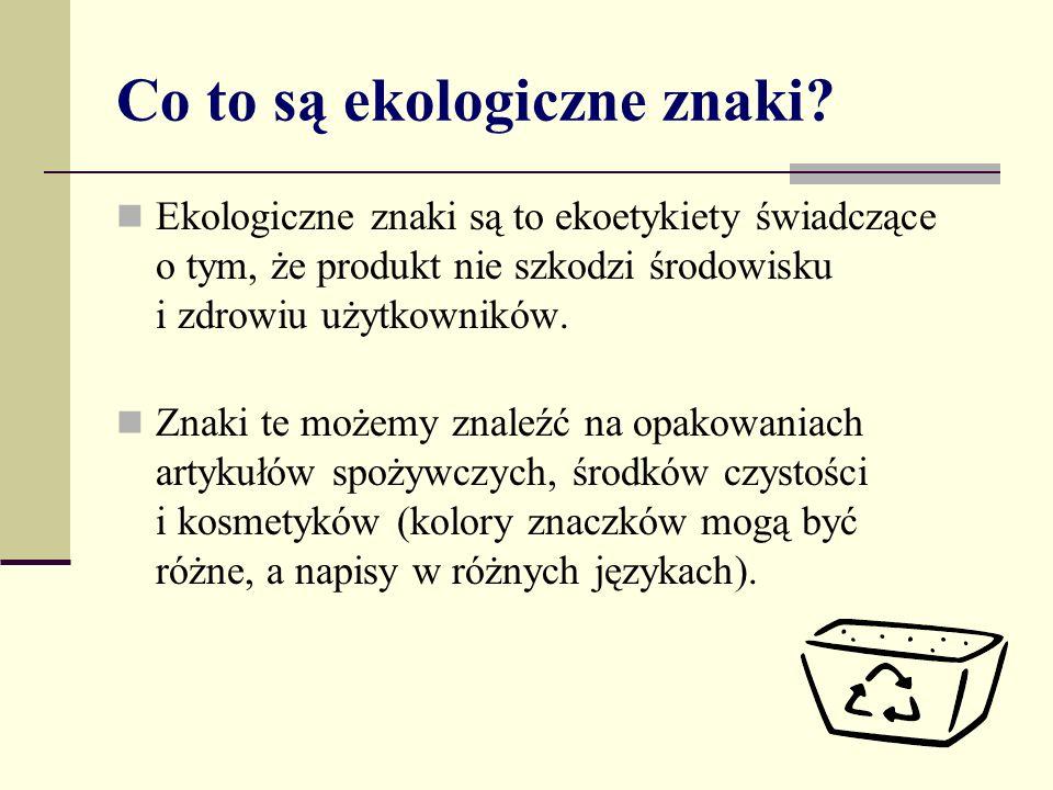 Ćwiczenie 1 Otwórz dokument o nazwie karta pracy_ekoznaki.doc.
