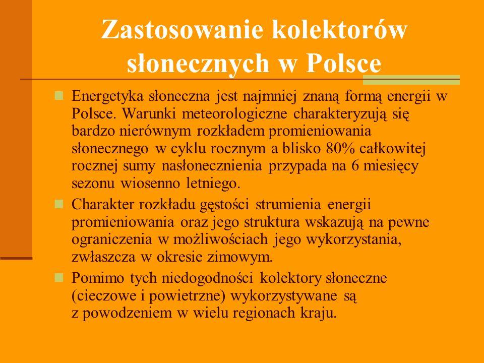 Zastosowanie kolektorów słonecznych w Polsce Energetyka słoneczna jest najmniej znaną formą energii w Polsce.
