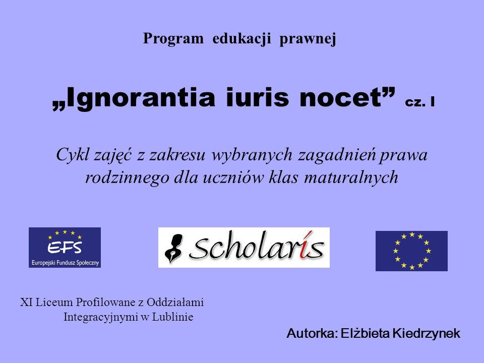 Program edukacji prawnej Ignorantia iuris nocet cz.