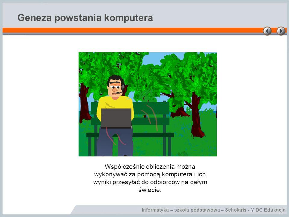 Informatyka – szkoła podstawowa – Scholaris - © DC Edukacja Urządzenia oparte na technice komputerowej