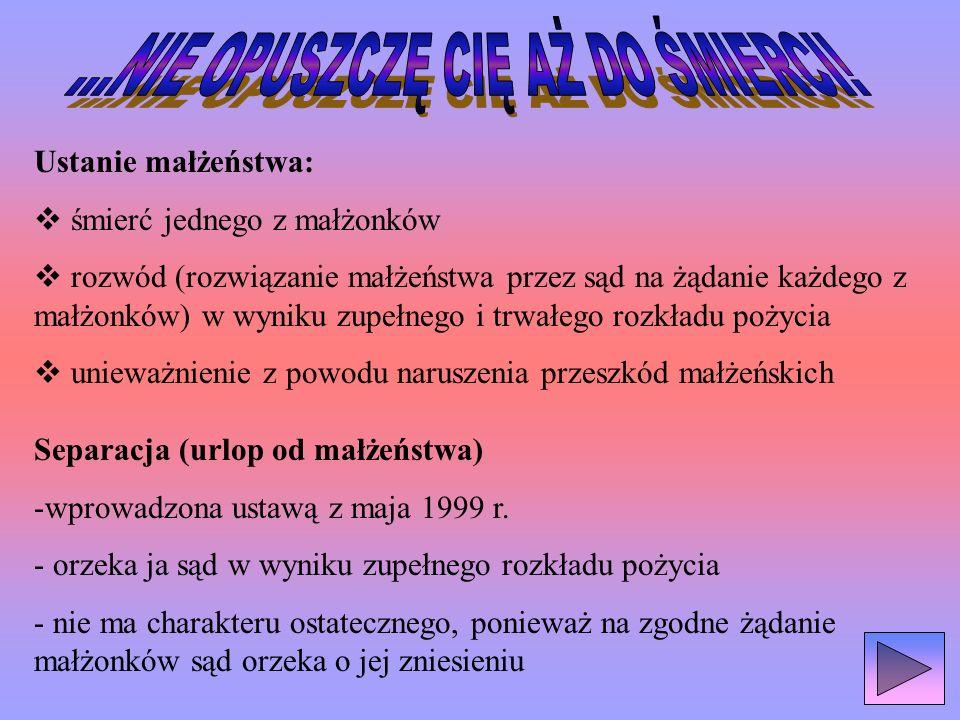 Władza rodzicielska – zespół praw i obowiązków rodziców względem małoletniego dziecka, obejmuje: 1)Opiekę nad dzieckiem 2) Zarząd majątkiem dziecka 3) Przedstawicielstwo, czyli reprezentacja dziecka Na dziecku ciąży obowiązek posłuszeństwa, pomagania rodzicom we wspólnym gospodarstwie oraz przyczynianie się z własnych dochodów do utrzymania rodziny, z którą zamieszkuje!!!!!!!!!!!!!!!!!!!.