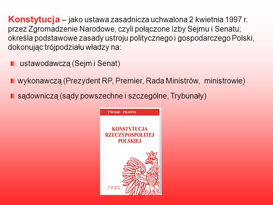 Konstytucja – jako ustawa zasadnicza uchwalona 2 kwietnia 1997 r.