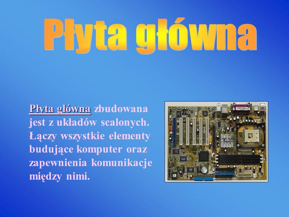 Obudowa komputera Obudowa komputera to zamknięta skrzynka, najczęściej metalowa z elementami plastikowymi, o kształcie prostopadłościanu, umożliwia um