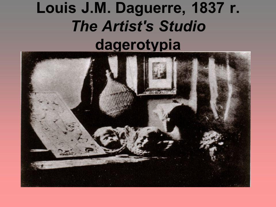 Louis J.M. Daguerre, 1837 r. The Artist's Studio dagerotypia