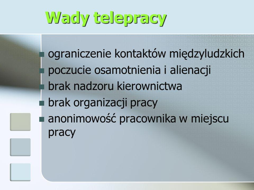 Bibliografia Elastyczne formy zatrudnienia i organizacji pracy a popyt na pracę w Polsce, pod red.