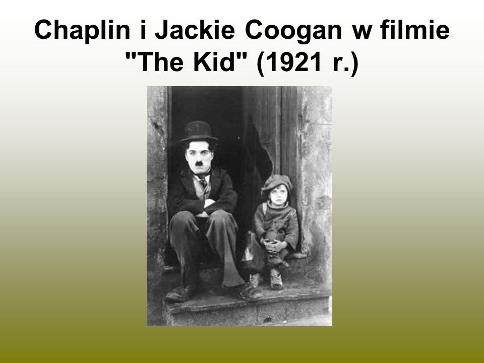 Chaplin i Jackie Coogan w filmie