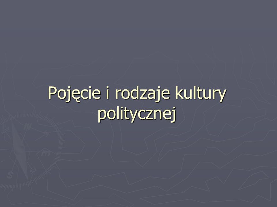 Kultura polityczna Kultura polityczna wiąże się z wiedzą człowieka na temat różnych zjawisk dotyczących polityki.