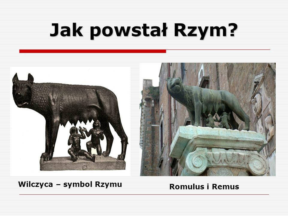 Wilczyca – symbol Rzymu Romulus i Remus Jak powstał Rzym?