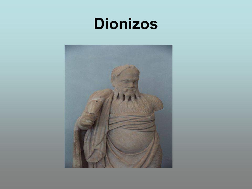 Syn Zeusa i śmiertelnej kobiety Semele.W mitologii greckiej to bóg urodzaju.