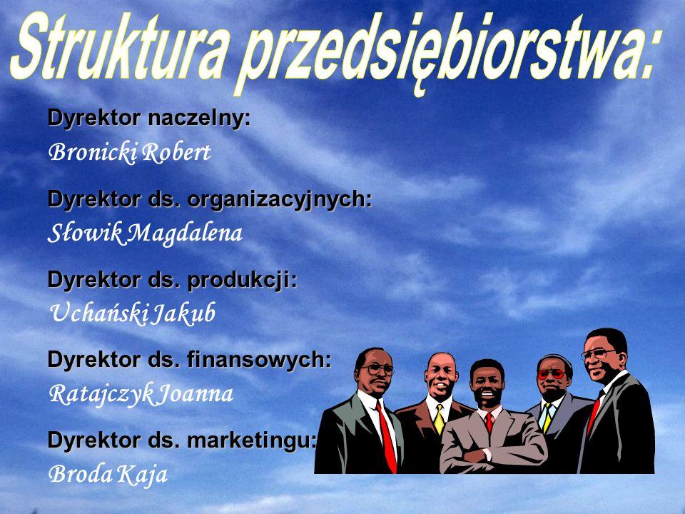 Dyrektor naczelny: Bronicki Robert Dyrektor ds.organizacyjnych: Słowik Magdalena Dyrektor ds.