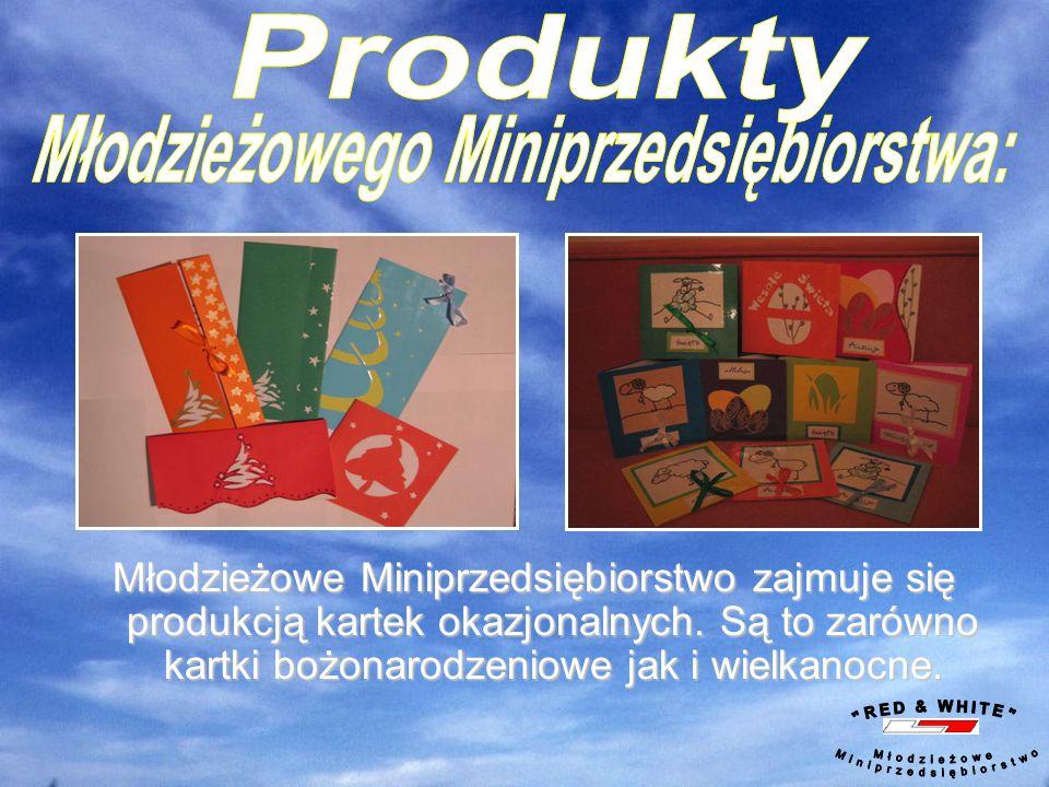 Młodzieżowe Miniprzedsiębiorstwo zajmuje się produkcją kartek okazjonalnych.