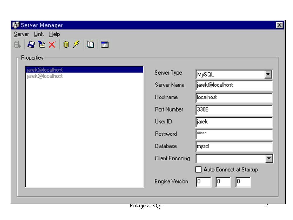 Fukcje w SQL33