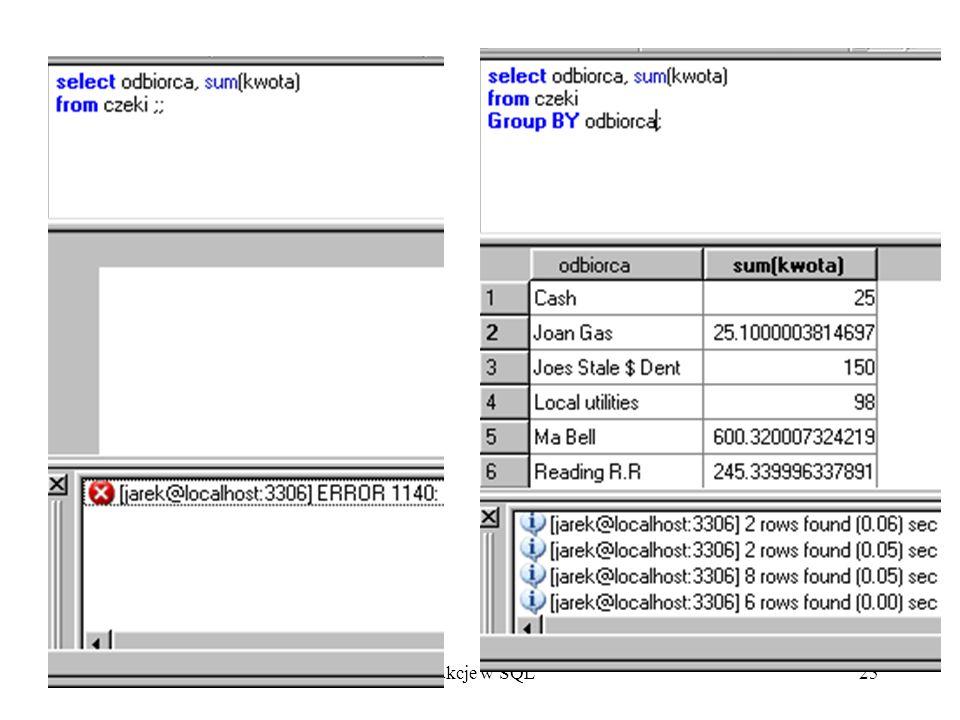 Fukcje w SQL25