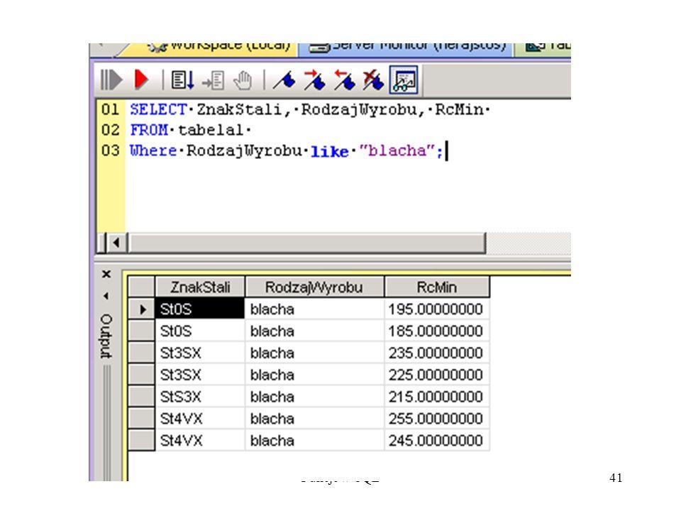 Fukcje w SQL41