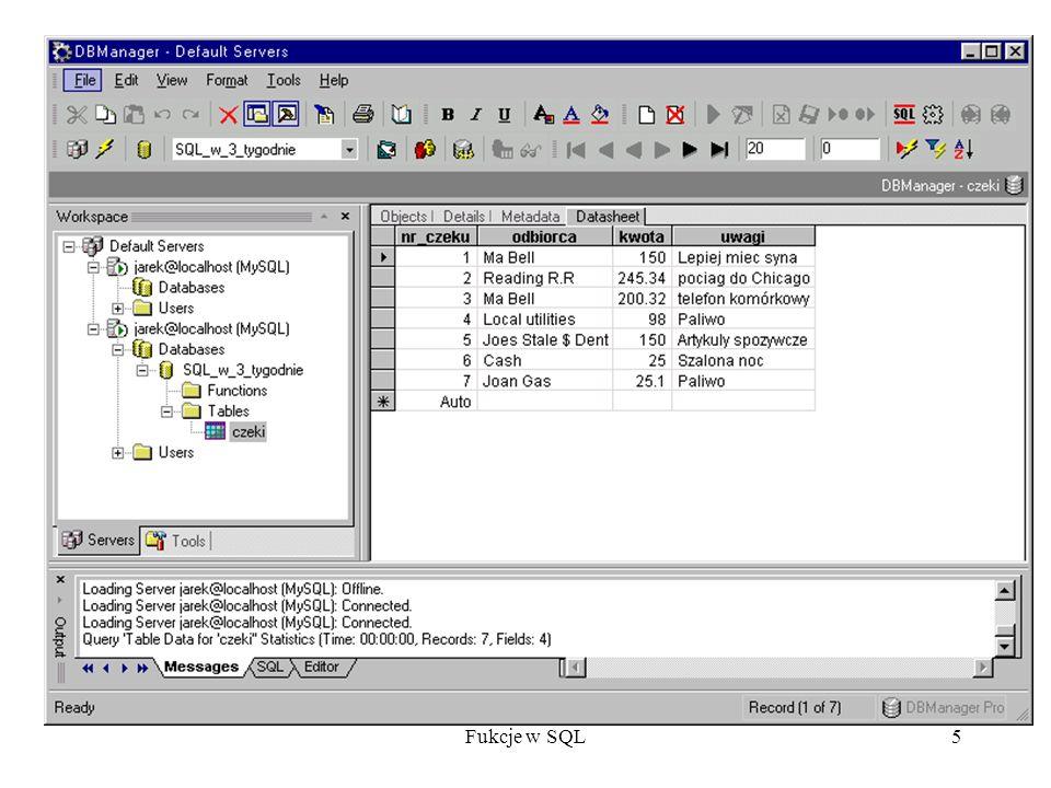 Fukcje w SQL36