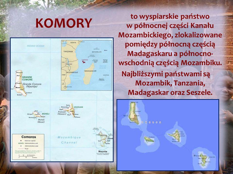 to wyspiarskie państwo w północnej części Kanału Mozambickiego, zlokalizowane pomiędzy północną częścią Madagaskaru a północno- wschodnią częścią Mozambiku.