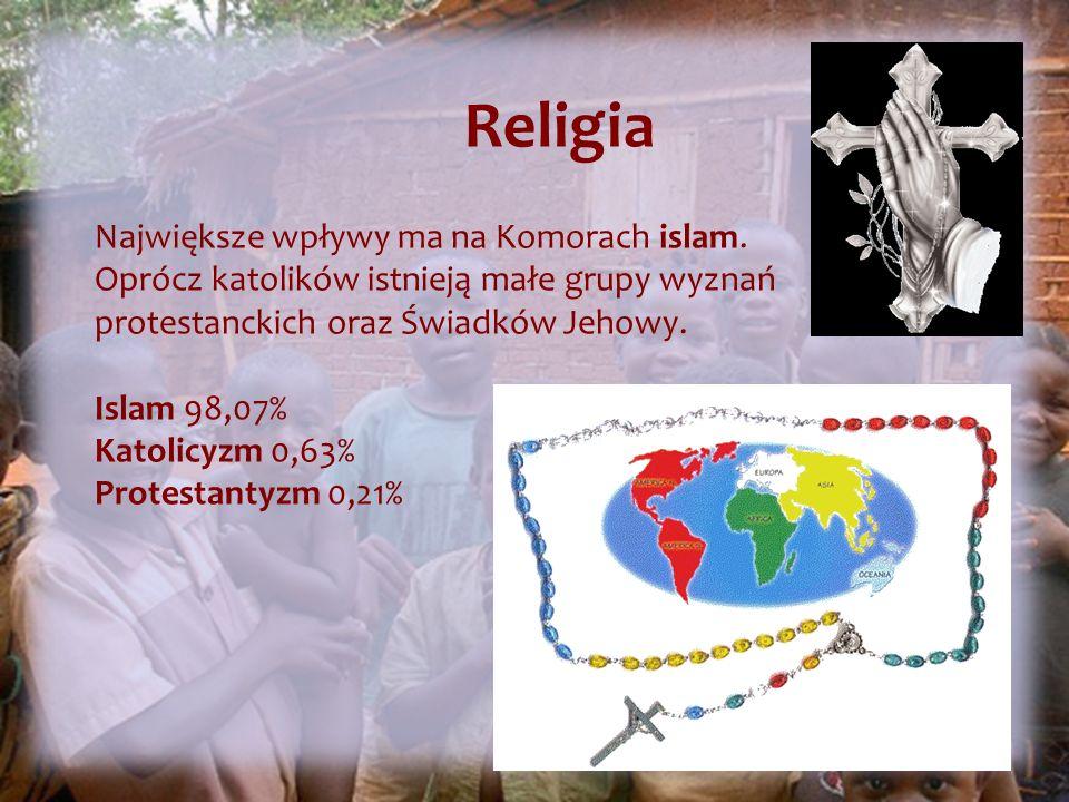 Religia Największe wpływy ma na Komorach islam.