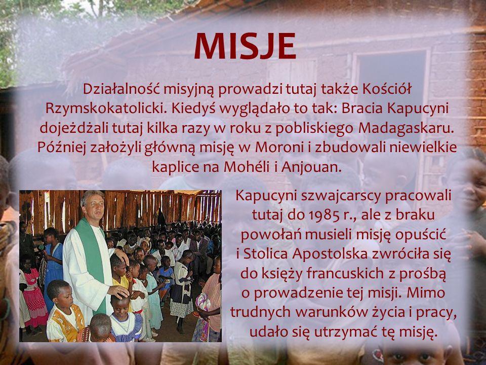 Działalność misyjną prowadzi tutaj także Kościół Rzymskokatolicki.