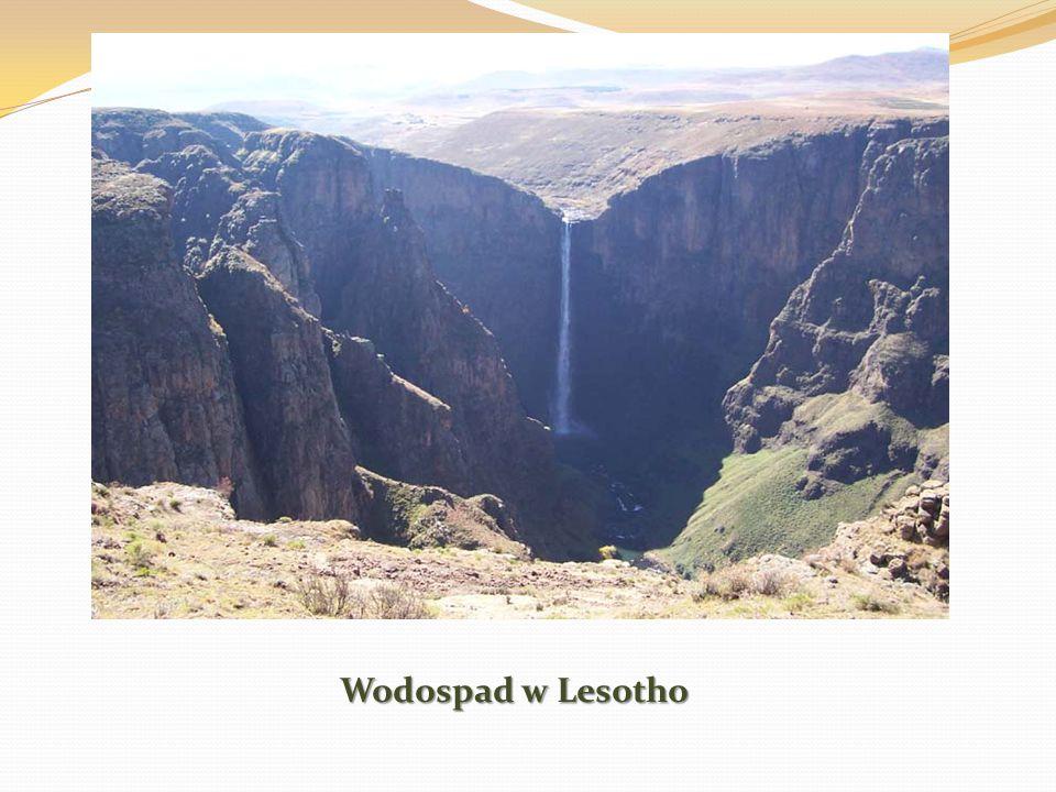Wodospad w Lesotho