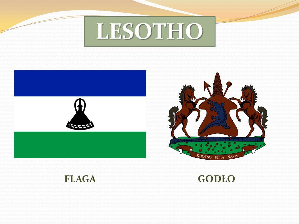 Piękny krajobraz Lesotho